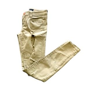 Almost Famous Jeans skinny distressed green 29